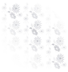 background vintage flowers in gray and white vector image