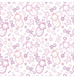 Bagirls seamless pattern background vector