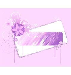 Banner painted pink paint vector
