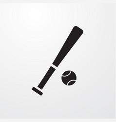 Baseball bat and ball icon for web and mobile vector