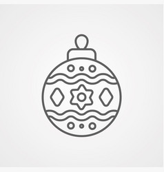 bauble icon vector image