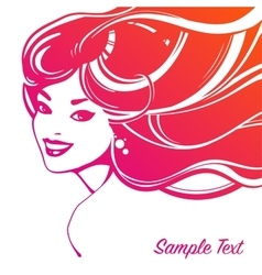 Beautiful woman decorative portrait vector