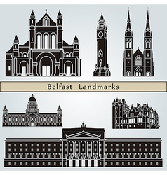 Belfast landmarks and monuments vector image