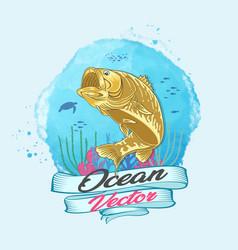 big fish anglerman vector image