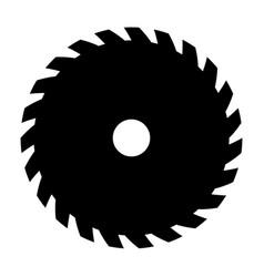 Black circular saw sign or icon symbol of vector