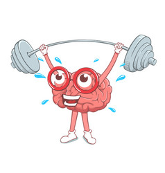 brain training with barbell vector image
