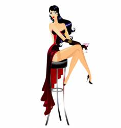 Burlesque girl vector