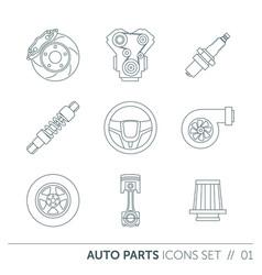 Car spare parts vector
