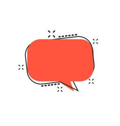 cartoon blank empty speech bubble icon in comic vector image