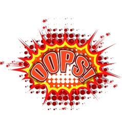 Cartoon oops vector image