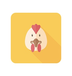 Chicken flat icon Animal head vector image