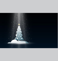 christmas background with new year tree and vector image