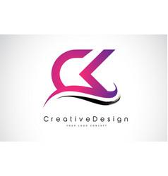 Ck c k letter logo design creative icon modern vector