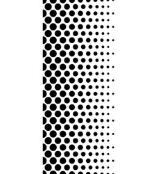 Dotted polka dot black and white seamlessly vector