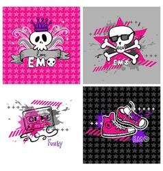 Emo vector banners vector