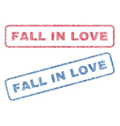 Fall in love textile stamps vector