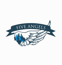 Five-angels-logo vector