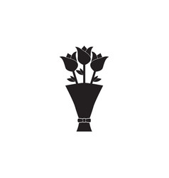 flower bouquet icon vector image