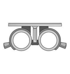 Frame for checking vision icon cartoon style vector image