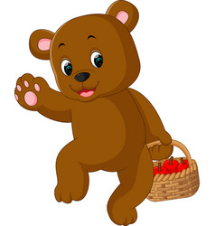 Funny bear cartoon vector