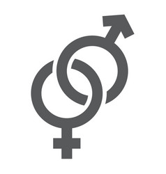 Gender signs glyph icon love and sex vector