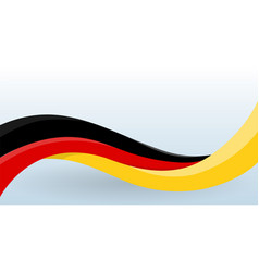 Germany waving national flag modern unusual shape vector