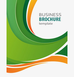 green and orange abstract business background vector image