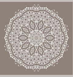 grey ornamental line pattern vector image vector image