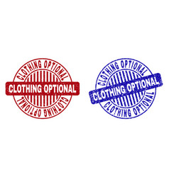 Grunge clothing optional textured round stamps vector