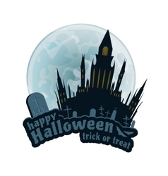 Happy halloween sticker vector