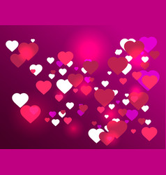 happy valentines day 14th of february bright vector image