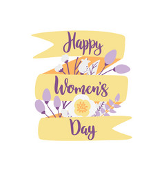 happy womens day hand drawn vector image