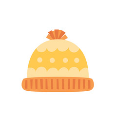 Hat isolated on white background winter knitting vector
