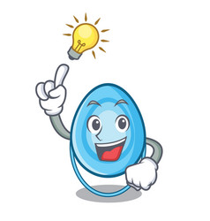 have an idea oxygen mask mascot cartoon vector image