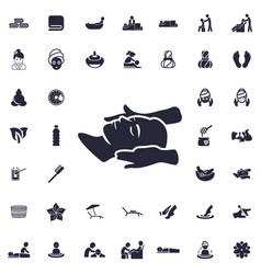 Head massage icon vector