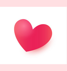 heart icon for valentines day and erotic shops vector image