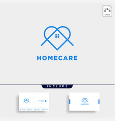 Home love care logo design icon element isolated vector