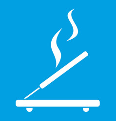 Incense sticks icon white vector