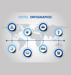 infographic design with hotel icons vector image