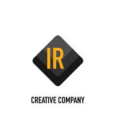 Initial letter ir black creative design logo in vector