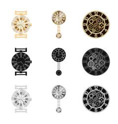 Isolated object of clock and time logo set of vector