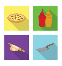 isolated object of pizza and food sign collection vector image