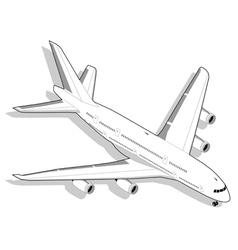 Isometric White Airplane vector