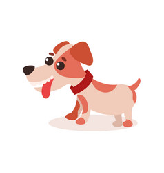 jack russell terrier character cute funny dog vector image