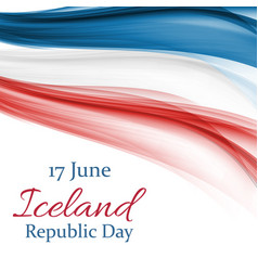 june 17 iceland republic day background vector image