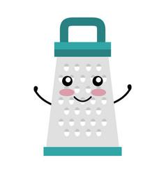 Kitchen grater kawai character vector
