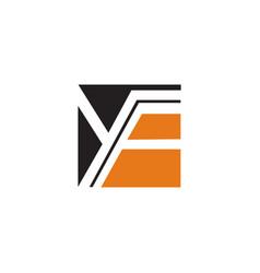 letter y f logo design concept template vector image