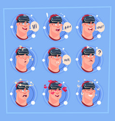 man different face male emoji wearing 3d virtual vector image