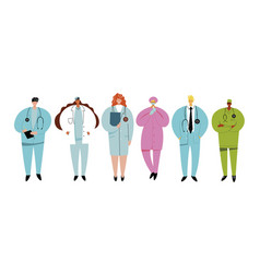 medical staff set professional medical occupation vector image