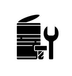 Metal waste black glyph icon vector